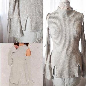 New! Nastygal/Lavish Alice Ribbed Knit Top S